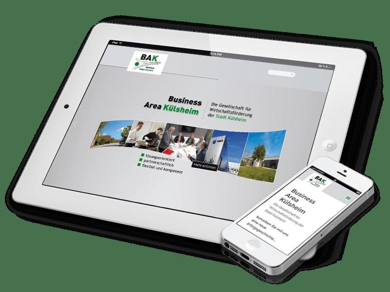 BAK - Website mit responsive Web-Design