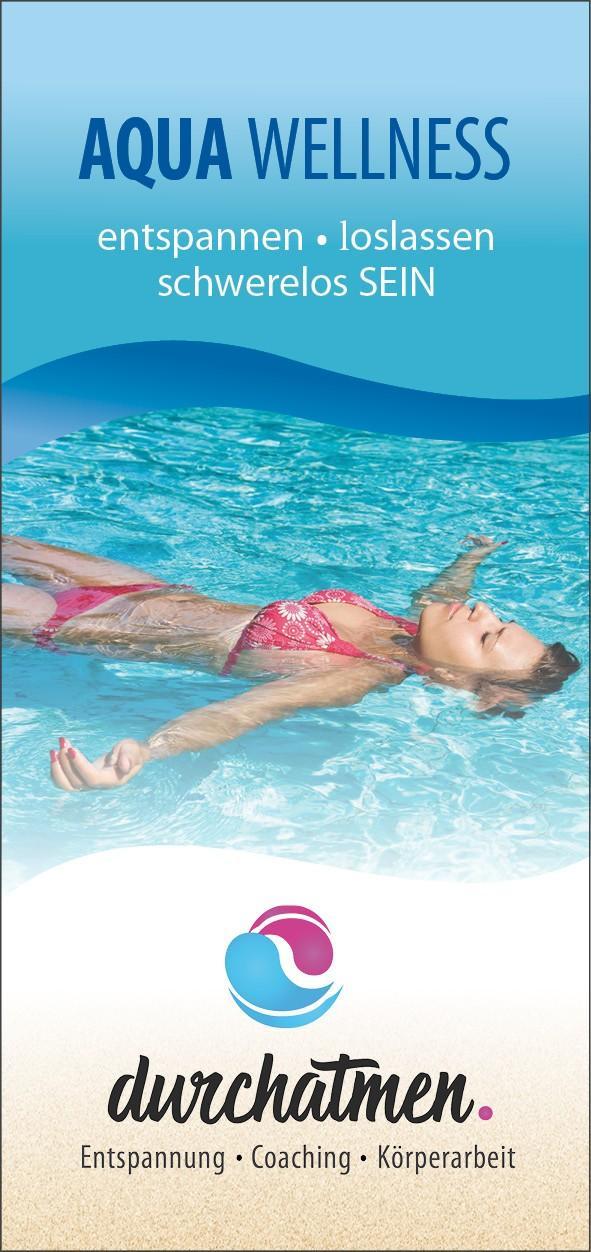 "DIN lang Flyer Titelseite ""Tanja Müller - Aquawellness"""