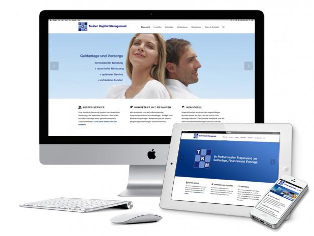 TKM Website - Homepage mit Image-Slideshow