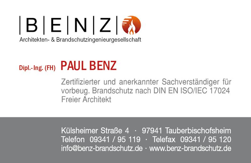 Visitenkarte Benz S1