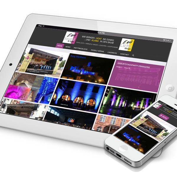 Eisis.de - Neugestaltung der Website mit reponsive Webdesign