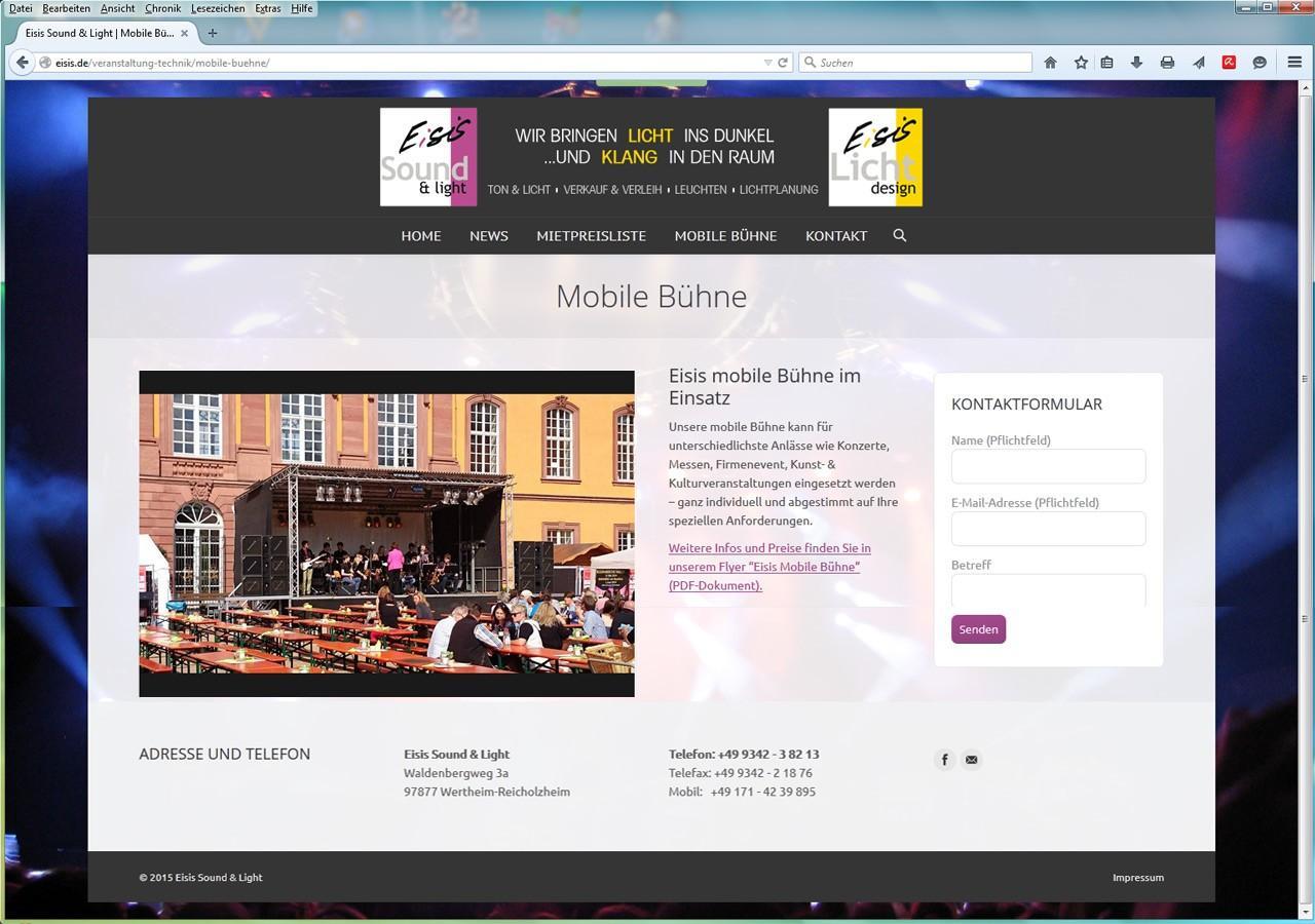 Eisis Webdesign - Portfolio