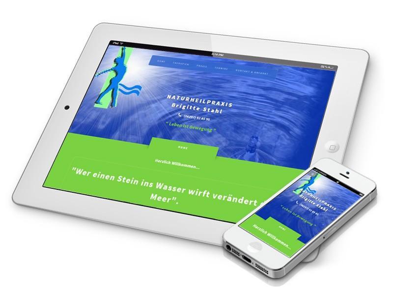 Naturheilpraxis Hompage im responsive Webdesign