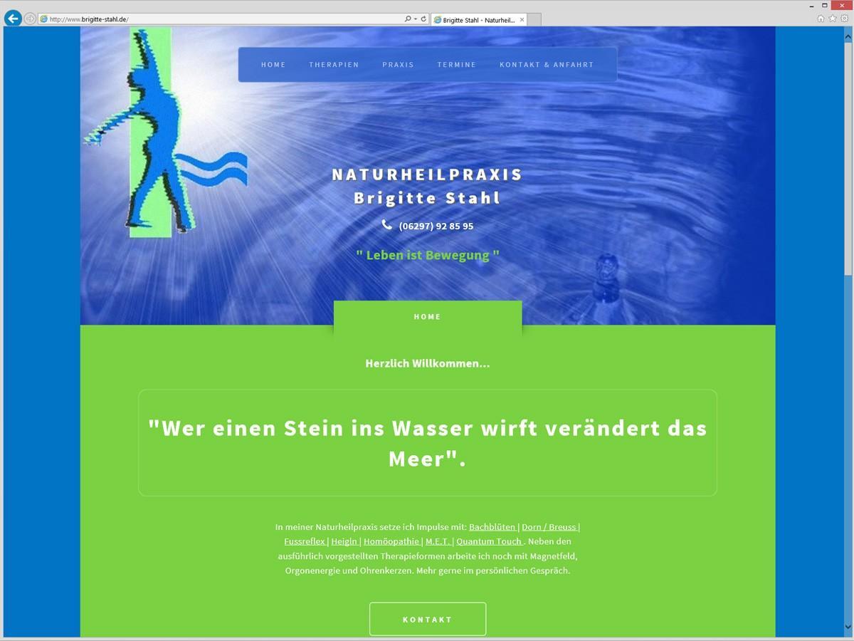 Weblayout: Naturheilpraxis - Homepage