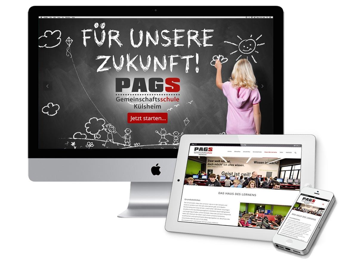 Website Mockup PAGS-Website