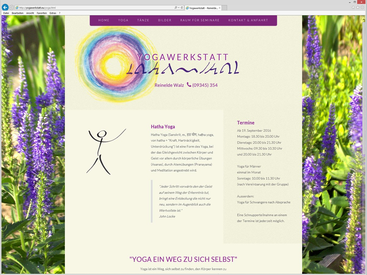 Yogawerkstatt: Yoga Termine