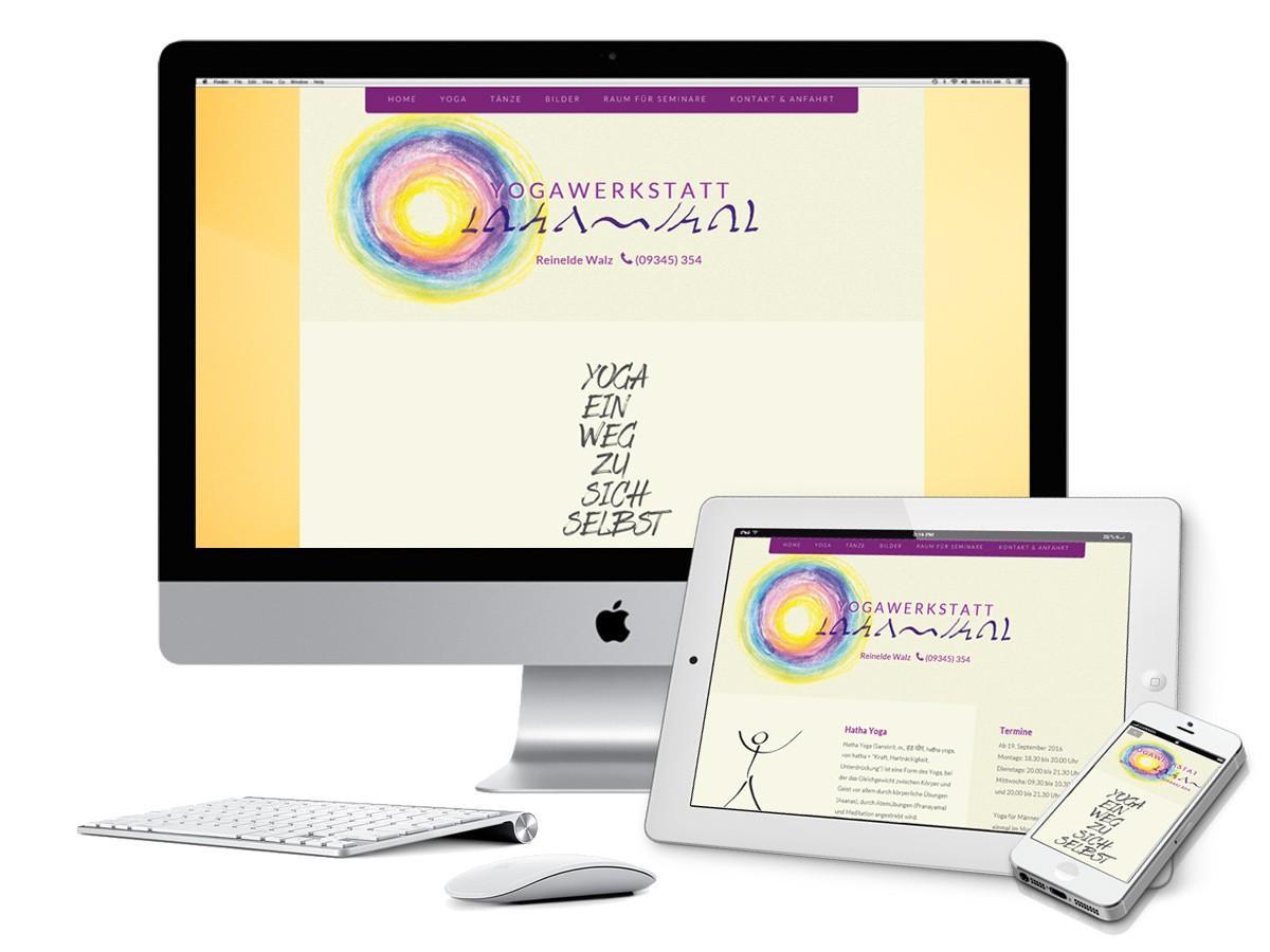 Yogawerkstatt - responsive Webdesign Screens