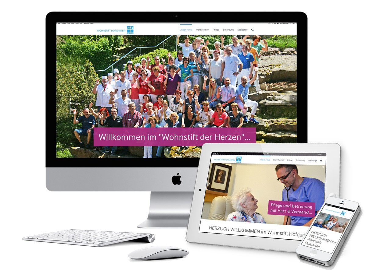 Wohnstift Hofgarten responsive Webdesign